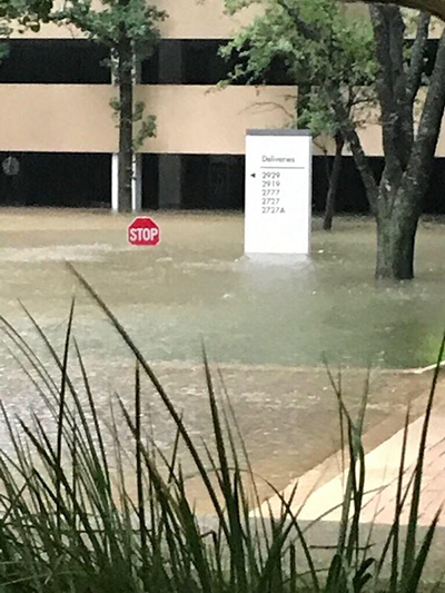 houston office flooded during harvey