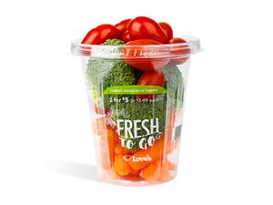 fresh vegetables at loves truck stop
