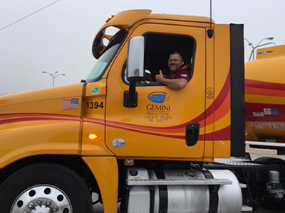 gemini fuel tanker driver ken rankin
