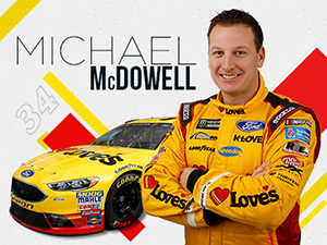 nascar driver michael mcdowell