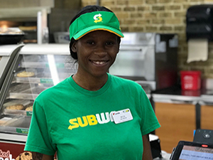 subway employee at loves