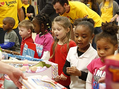 toy drive for kids at okc elementary school