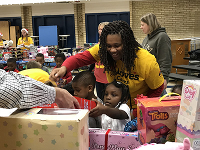 loves toy drive at ridgeview elementary
