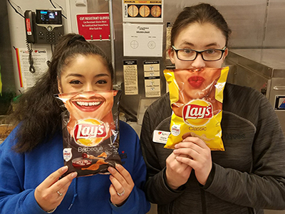 loves employees with lays smile potato chips