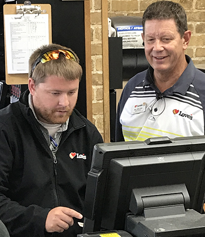 loves managers fixing register