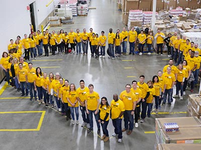 loves corporate employees at regional food bank