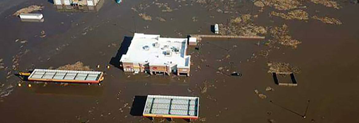 midwest flooding at loves in pacific junction