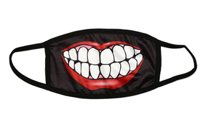 Mouth and teeth face mask