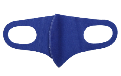 Solid royal blue face mask