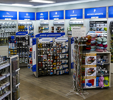 Love's Travel Stops sells many electronics