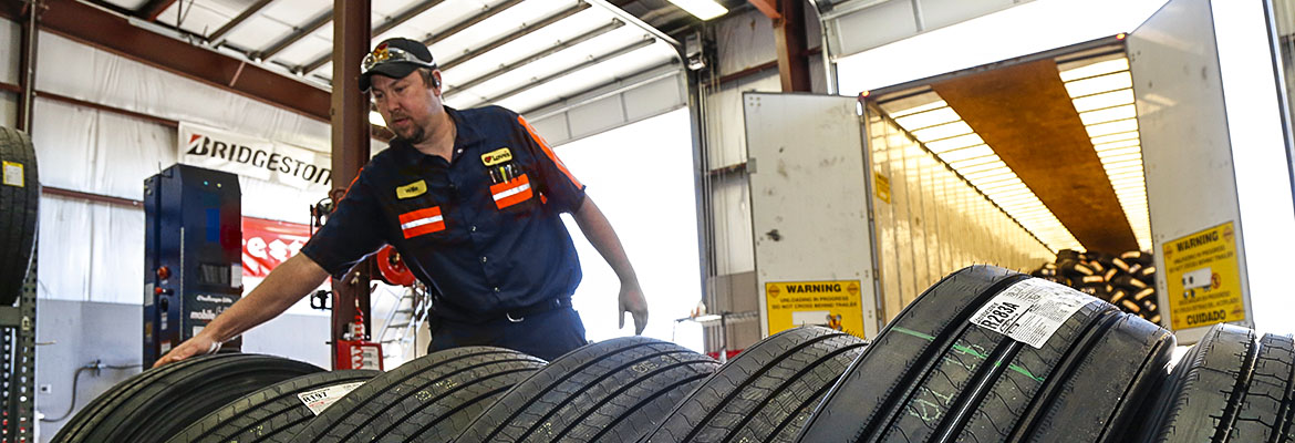 Get your commercial truck tires at Love's and Speedco