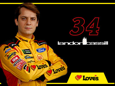 34 loves ford driver landon cassill